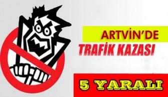 Trafik Kazası 5 Yaralı !!!