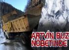 Artvin Belediyesi Buz Nöbetinde