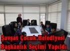 Şavşat Çocuk Belediyesi Başkanlık Seçimini Yaptı