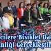 İlçemizde Öğrencilere Bisiklet Dağıtımı Etkinliği Gerçekleştirildi