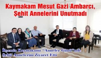 Kaymakam  Mesut Gazi Ambarcı, Şehit Annelerini Unutmadı