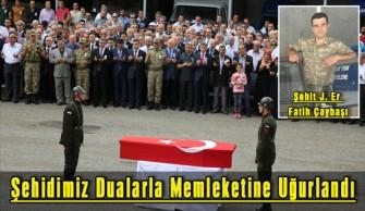 Şehidimiz Jandarma Er Fatih Çaybaşı Dualarla Memleketine Uğurlandı