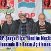 ÖDP Şavşat İlçe Yönetim Meclisi ÖDP İlçe Binasında Bir Basın Açıklaması Düzenledi