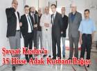 Şavşat Kızılay'a 35 Hisse Adak Kurbanı Bağışı