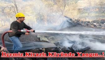 İlçemiz Kirazlı Köyünde Yangın..!