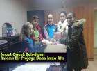 Şavşat Çocuk Belediyesi Anlamlı Bir Projeye Daha İmza Attı