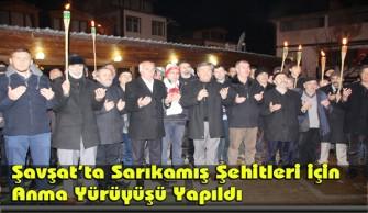 Şavşat'ta Sarıkamış Şehitleri için Anma Yürüyüşü Yapıldı