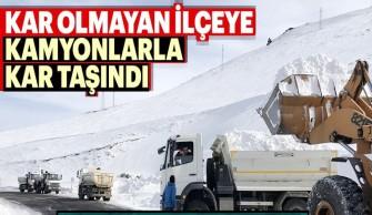 Şavşat'ta Kar Üstü Güreşleri İçin Kamyonlarla Kar Taşındı