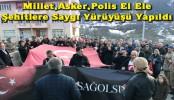 Millet, Asker, Polis El Ele Şehitlere Saygı Yürüyüşü Yapıldı