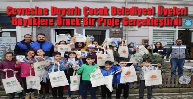 Çevresine Duyarlı Çocuk Belediyesi Üyeleri Büyüklere Örnek Bir Proje Gerçekleştirdi