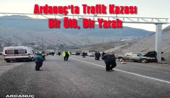 Ardanuç'ta Trafik Kazası Bir Ölü, Bir Yaralı