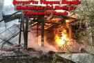 Şavşat'ta Tüpgaz Kaçağı Nedeniyle iki Katlı Ev Tamamen Yandı