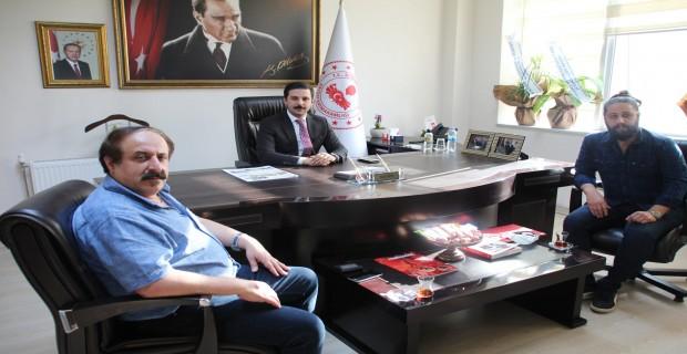 Gazetecilerden Kaymakam Yusuf Akın'a Ziyaret