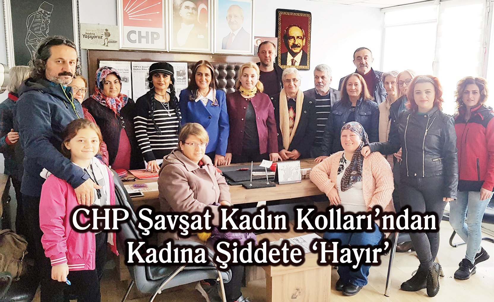 CHP Şavşat Kadın Kolları'ndan Kadına Şiddete 'Hayır'
