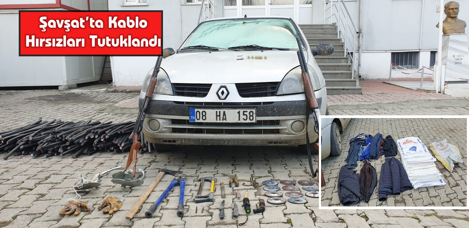 Şavşat'ta Kablo Hırsızları Tutuklandı