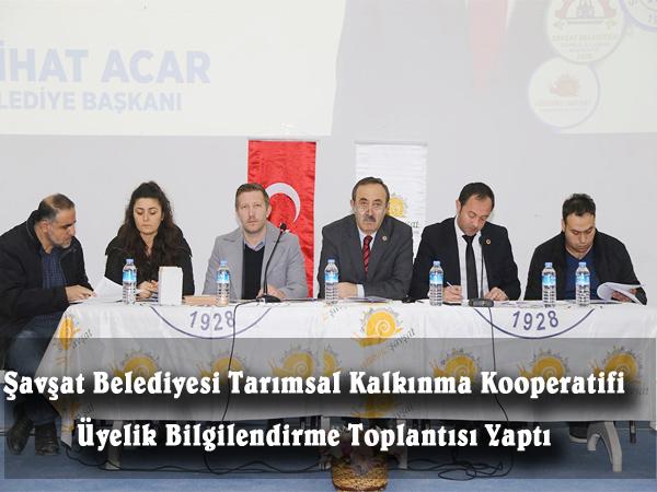 Şavşat Belediyesi Tarımsal Kalkınma Kooperatifi Üyelik Bilgilendirme Toplantısı Yaptı