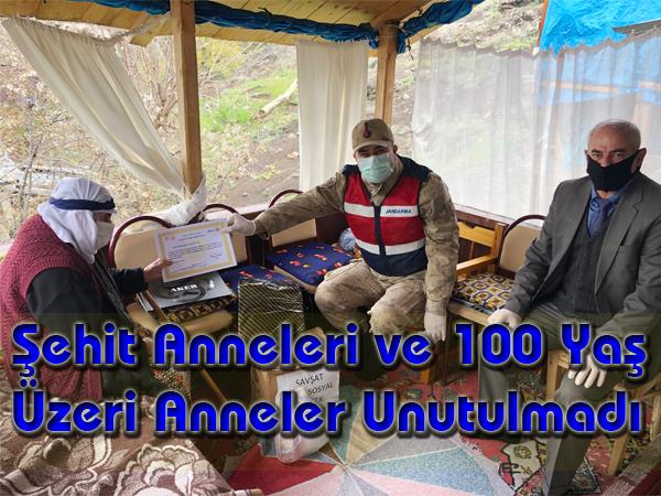 Şehit Anneleri ve 100 Yaş Üzeri Anneler Unutulmadı