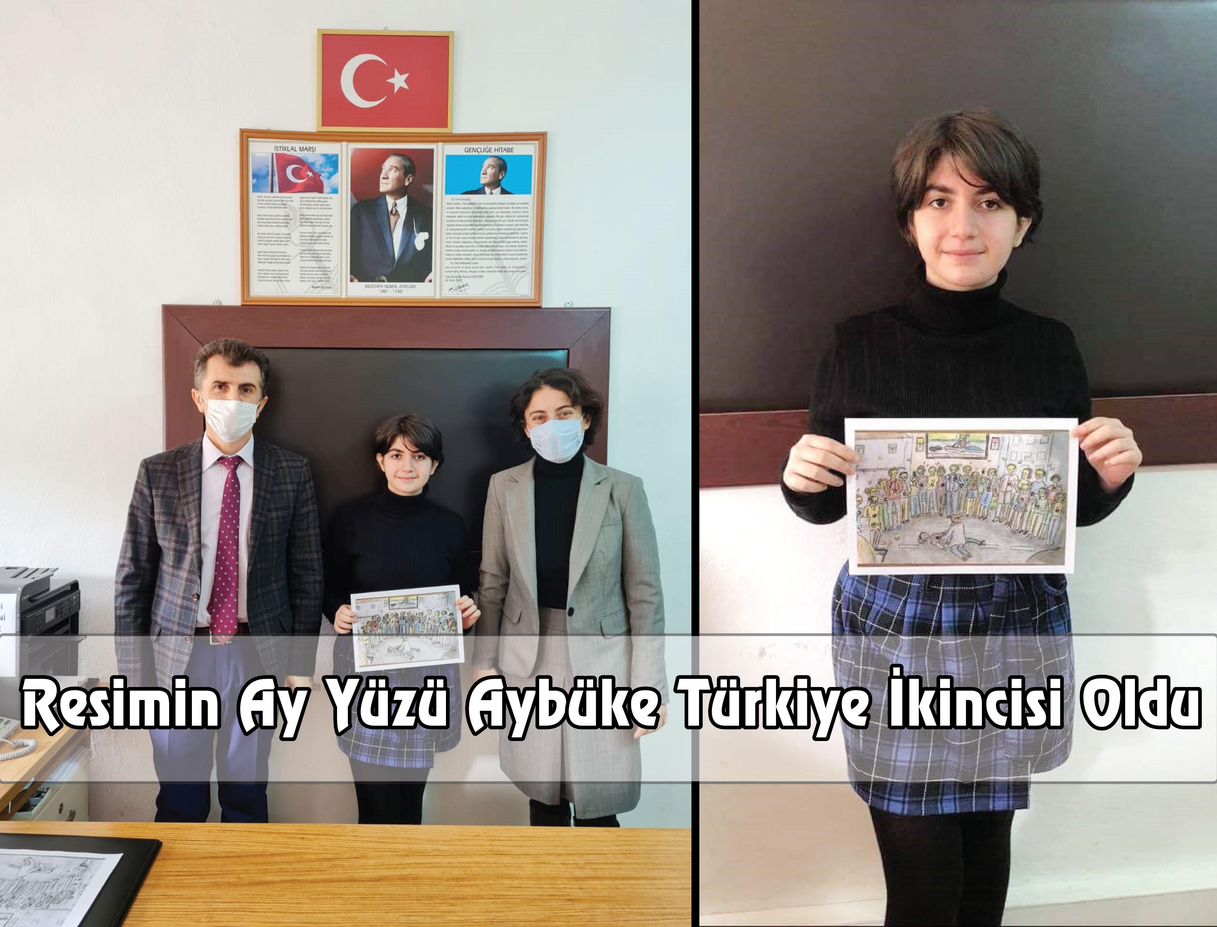 Resimin Ay Yüzü Aybüke Türkiye İkincisi Oldu